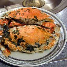 Kraby po ugotowaniu jeszcze przed zapieczeniem