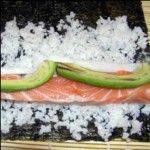 Nigiri maki z ułożoną rybą