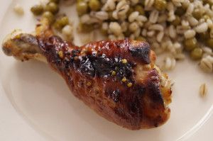 marynowane udziki kurczaka 300x199 Pieczone udziki kurczaka marynowane w miodowo   musztardowej marynacie