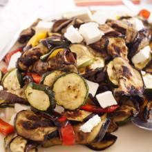 sałatka z grollowanych warzyw