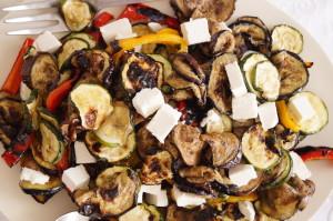 salatka z grillowane warzywa